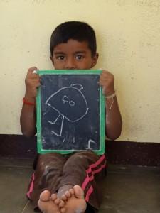 """Kopffüßler - hier doll genannt - weltweit """"am Start"""" - der junge Mann hat einfach gearbeitet"""